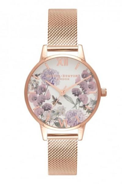 Olivia Burton - Women's Enchanted Garden Watch - Rose Gold