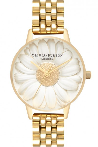 Olivia Burton - Women's 3D Daisy Watch - Silver Gold