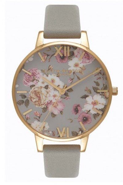 Olivia Burton - Women's Flower Show Watch - Grey Gold