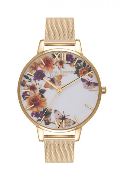 Olivia Burton - Women's Enchanted Garden Butterflies Watch - Gold