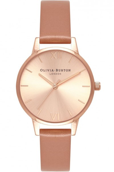 Olivia Burton - Women's Sunray Dial Silver & Sand Watch - Rose Tan