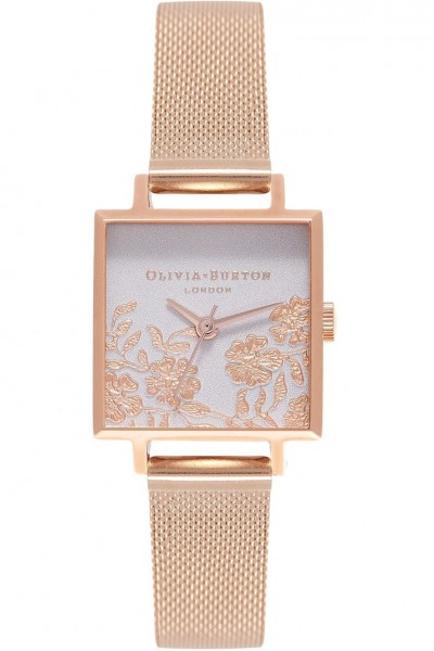 Olivia Burton - Women's Lace Detail Rose Gold & Rose Gold Watch - Multicolour Rosegold
