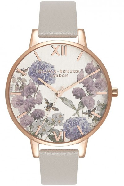 Olivia Burton - Women's Vegan Friendly Rose Gold & Grey Watch - Rose Gold Grey