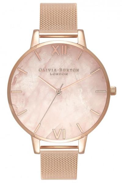 Olivia Burton - Women's Semi Precious Rose Gold & Rose Gold Watch - Rose Rose Gold
