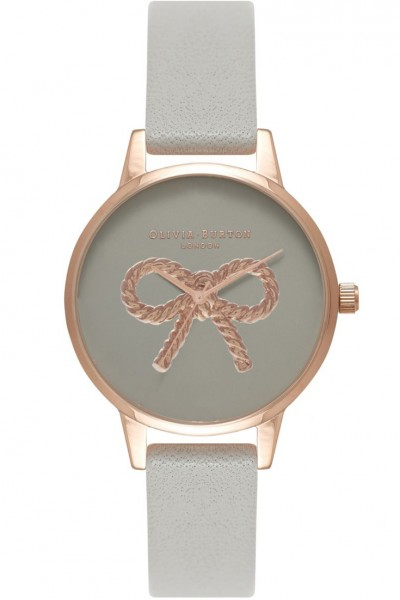 Olivia Burton - Women's Vintage Bow Rose Gold & Grey Watch - Grey