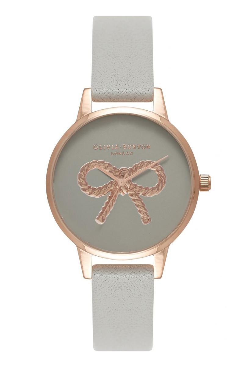 Olivia Burton - Women's Vintage Bow Rose Gold & Grey Watch - Grey