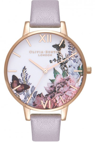 Olivia Burton - Women's Signature Florals Rose Gold & Grey Lilac Watch - MultiColour Lilac