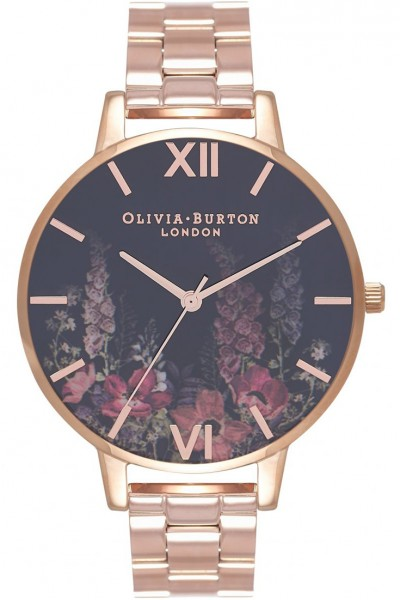 Olivia Burton - Women's Dark Bouquet Rose Gold & Rose Gold Watch - MultiColour Rose Gold