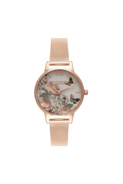 Olivia Burton - Women's Midi Signature Floral Watch - Rose Gold