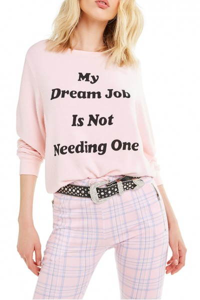 Wildfox - Dream Job Baggy Beach Jumper - Romantic