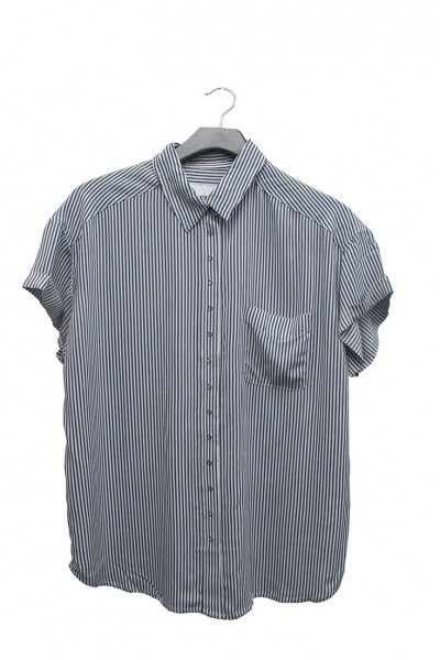 Pistola - RE18A - Courtney Cuffed Short Sleeve Shirt - 1965 Stripe