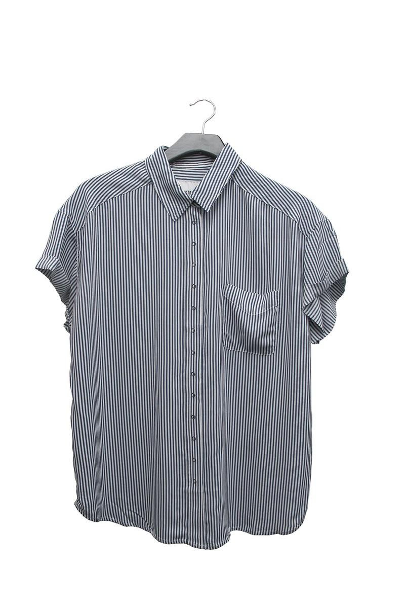 Pistola - RE18A - Courtney Cuffed Short Sleeve Shirt - 1965 Stripe