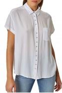 Pistola - RE18A - Courtney Cuffed Short Sleeve Shirt - Blanc