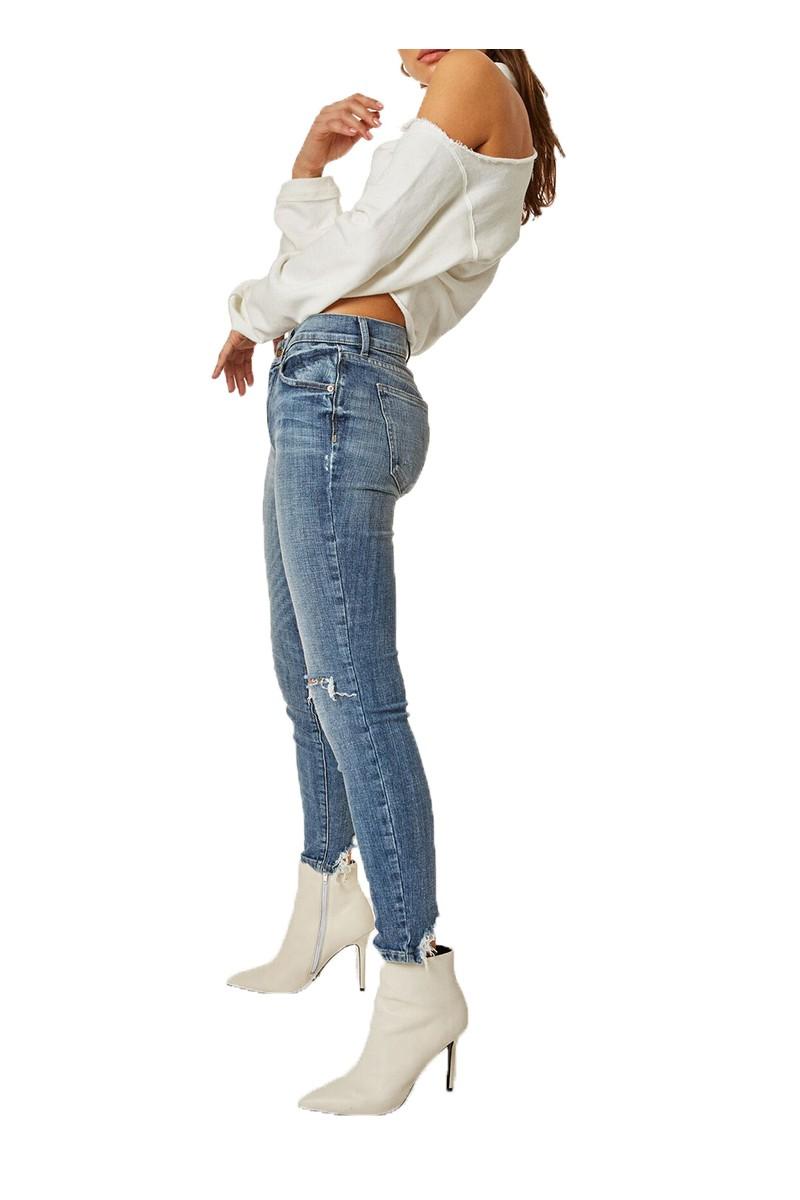 Pistola - RE18B - Audrey Mid Rise Skinny Pant - Loyalty