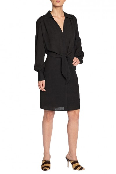Brochu Walker - SP19A - Madsen Shirtdress - Black Onyx