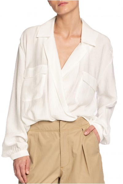 Brochu Walker - SP19C - Finn Blouse - Salt White
