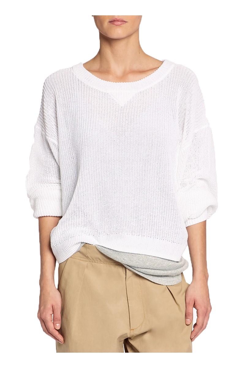 Brochu Walker - SP19C - Hanne Crew Sweater - Salt White