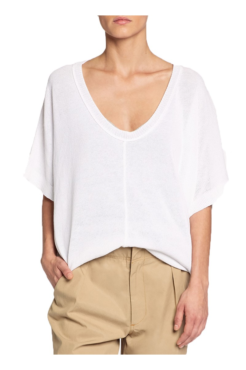 Brochu Walker - SP19C - Celia Tee - Salt White