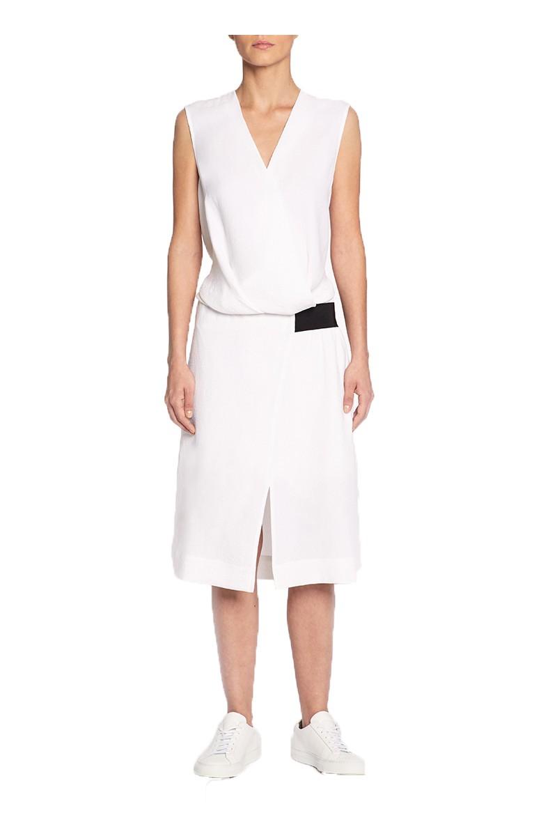 Brochu Walker - SP19B - Claren Dress - Salt White