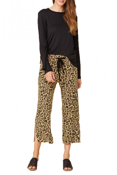 LNA - Women's Brushed Kismet Sweatpant - Leopard
