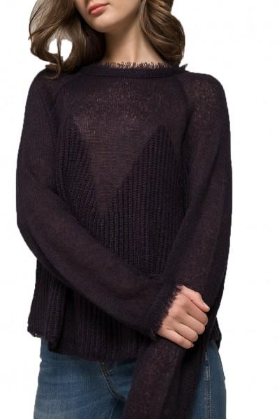 Moon River - Women's Oversized Sweater - Navy