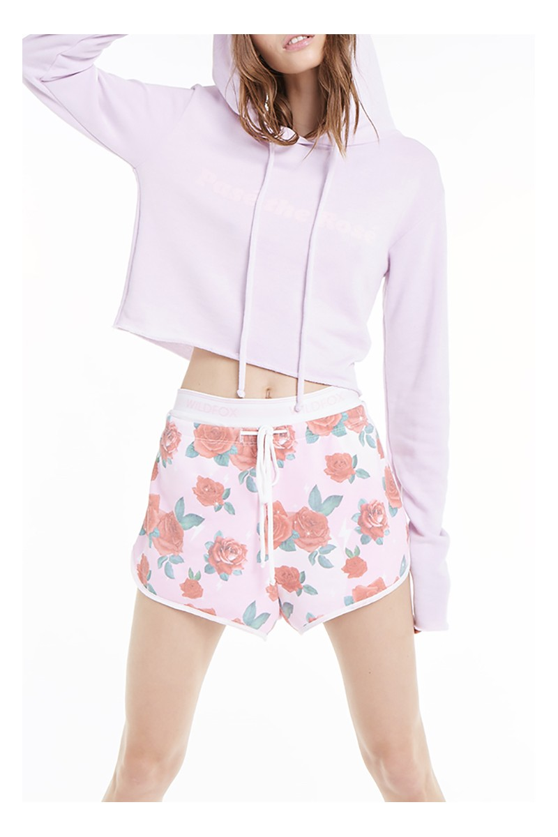 Wildfox - SP19A - Pase The Rose Ivy Hoodie - Primrose