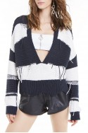 Wildfox - SP19A - Zafiris Sweater - Vanilla Ice Clean Black
