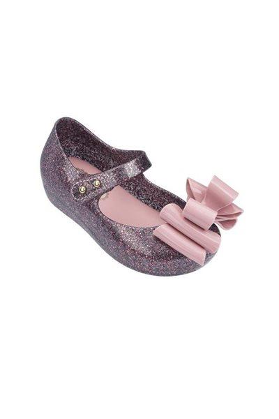 Mini Melissa - Kids Ultragirl Sweet III BB Shoe - Pink Glitter
