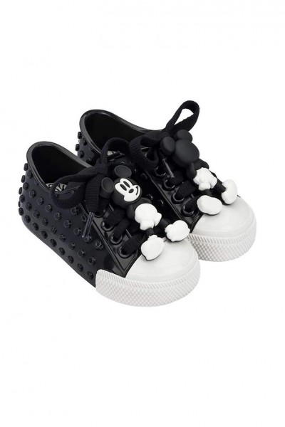 Mini Melissa - Kids Polibolha Disney's Mickey Mouse Sneaker - Black