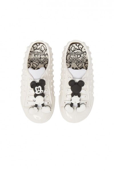 Mini Melissa - Kids Polibolha Disney's Mickey Mouse Sneaker - White