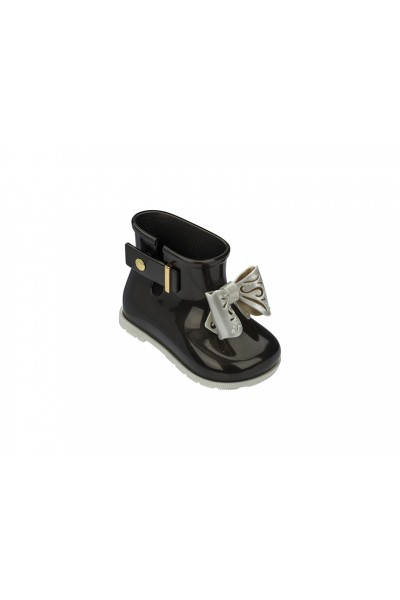 Mini Melissa - Kids Sugar Rainboot - Black White