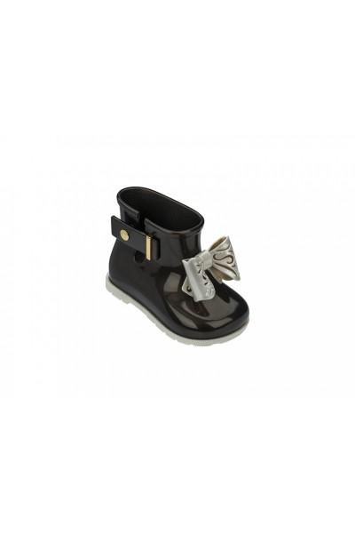 Mini Melissa - Kids Sugar Rainboot - Black White