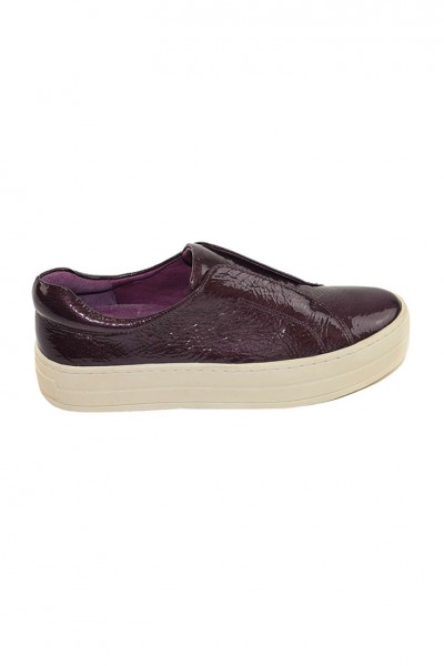 JSlides - Heidi Soft Patent Leather Shoe - Burgandy