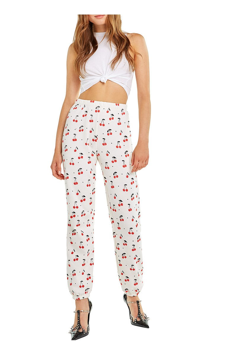 Wildfox - RE18B - Cherry Oh Baby Bottoms Easy Sweat - Vintage Lace