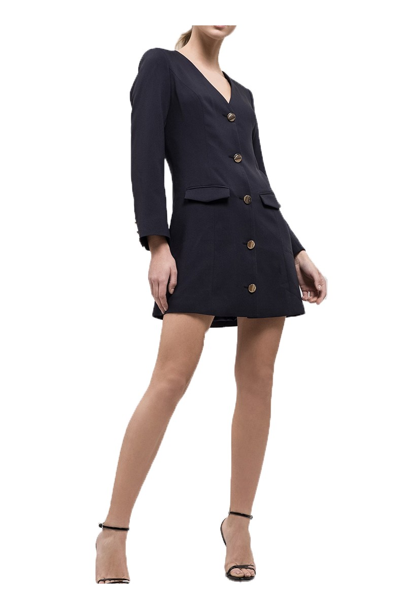 J.O.A. - Women's Princess Seam Jacket - Navy