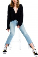 Wildfox - SP19A - Palmetto Sweater - Clean Black