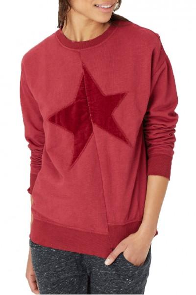 Grey State - Star Sweatshirt - Claret Combo