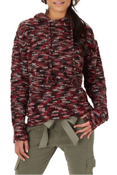 Grey State - Bailey Hoodie Sweater - Claret Combo
