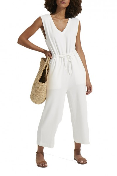 Grey State - JIMENA JUMPSUIT - Spa White