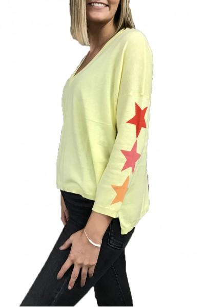 Brodie - Emma Star Top - Lemon Sorbet Red Flame