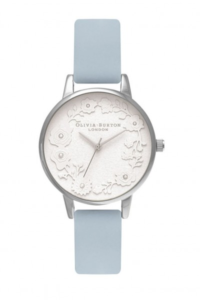 Olivia Burton - Women's Artisan Dial Watch - Chalk Blue Silver