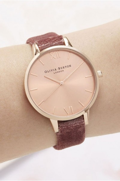 Olivia Burton - Women's Sunray Demi Dial Watch - Rose Velvet