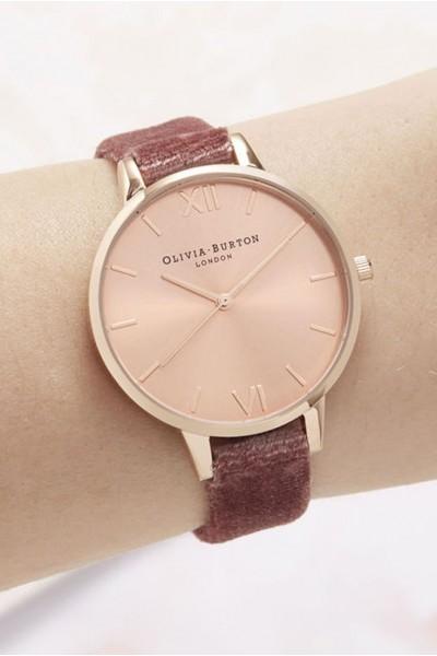 Olivia Burton - Women's Sunray Demi Dial Watch - Rose Velvet