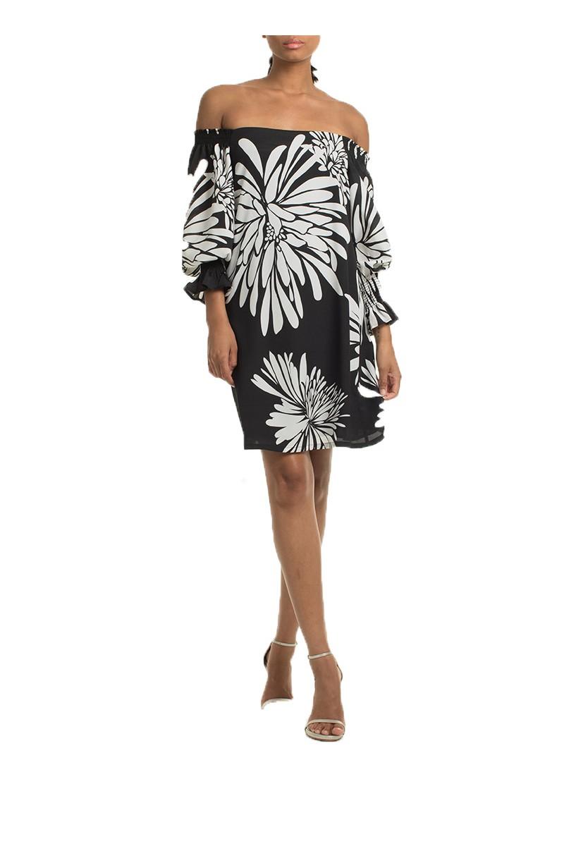 Trina Turk - SP19A - Heart Dress - Black