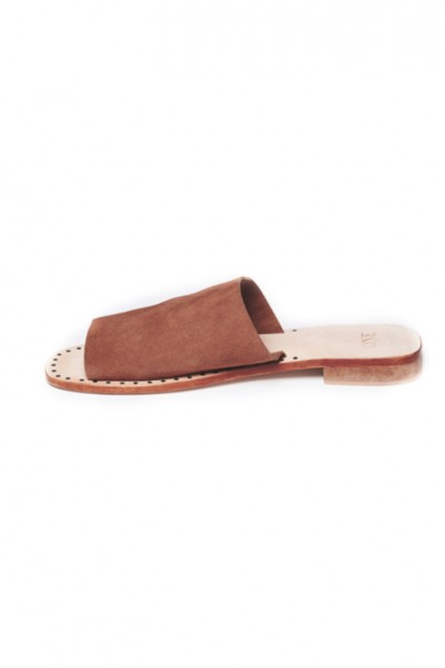 One Teaspoon - Women's Florence Suede Slides - Tan