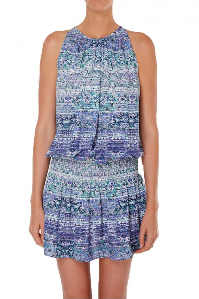Ramy - SP19B - Printed Paris Slvls Dress - Lavender Combo