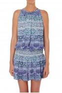 Ramy - SP19B - Printed Paris Slvls Dress - Lavender Combo