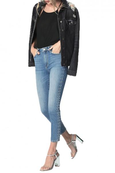 Joe's - Women's Charlie High Rise Skinny Ankle Studded Side Seam Jean - Ora
