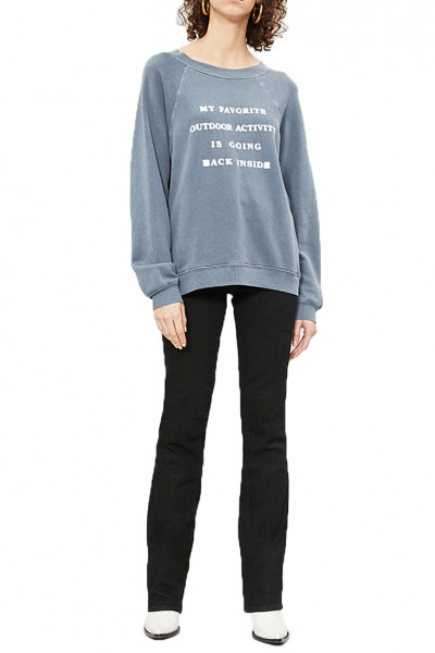 Wildfox - RE18B - Going Back Inside Sommers Sweater - Pigment Oxford