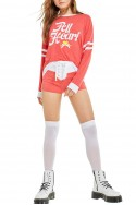 Wildfox - All Heart Moonlight Sweater - Scarlet Clean White